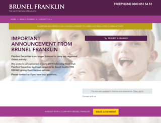 brunelfranklinppi.co.uk screenshot