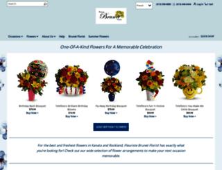 brunetflorist.com screenshot