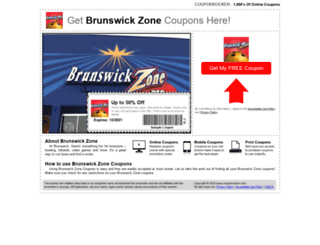 brunswickzone.couponrocker.com screenshot