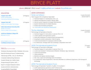 bryceplatt.com screenshot