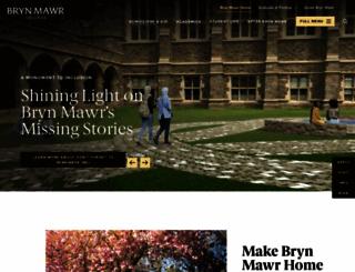 brynmawr.edu screenshot