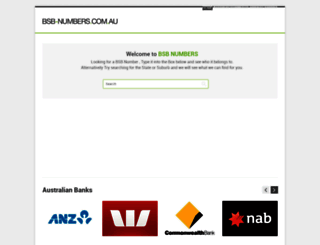 bsb-numbers.com.au screenshot