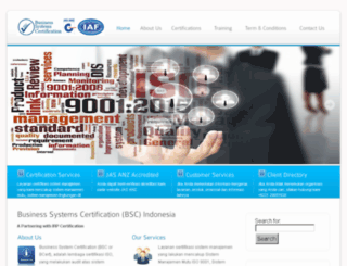 bscertification.co.id screenshot