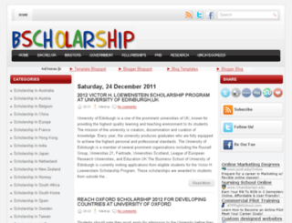 bscholarship.blogspot.com screenshot