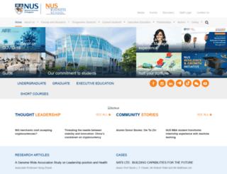 bschool.nus.edu screenshot