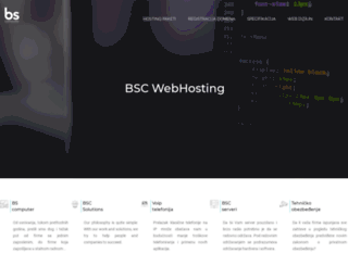 bscwebhosting.com screenshot