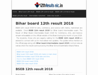bseb.12thresults-nic.in screenshot