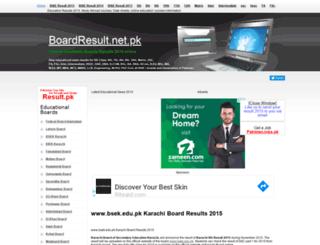 bsek.boardresult.net.pk screenshot