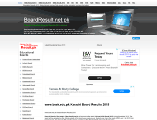 bsek.boardresult.pk screenshot