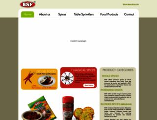 bsfspices.com screenshot