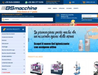 bsmacchine.it screenshot
