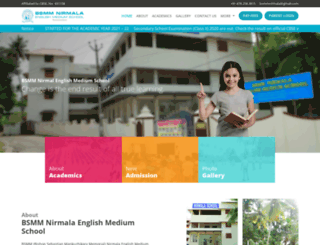 bsmmnirmalaschool.com screenshot