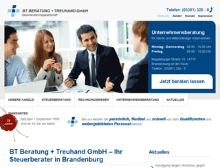 bt-steuerberatung.de screenshot