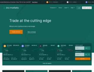 btcmarkets.net screenshot