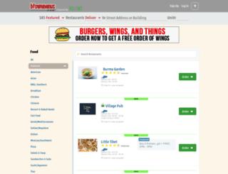 btownmenus.com screenshot