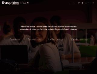 bu.dauphine.fr screenshot