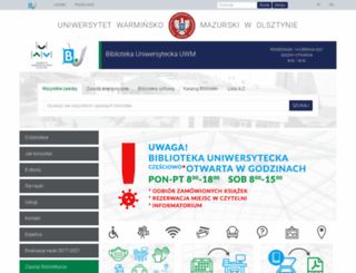 bu.uwm.edu.pl screenshot