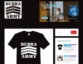 bubbaarmy.com screenshot