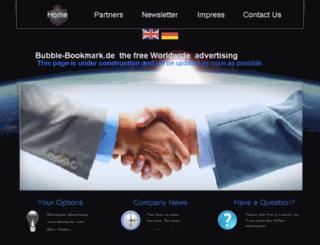 bubble-bookmark.de screenshot