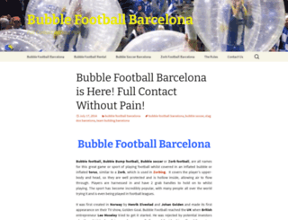 bubblefootballbarcelona.org screenshot