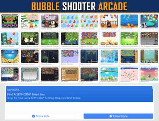 bubbleshooterarcade.com screenshot