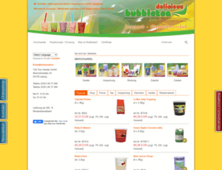 bubbletea-delicious.de screenshot