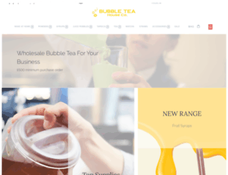 bubbleteahousecompany.com screenshot