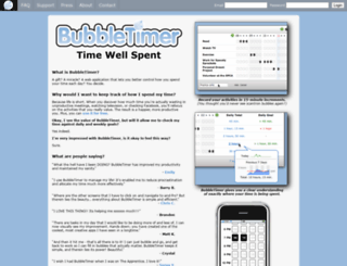 bubbletimer.com screenshot