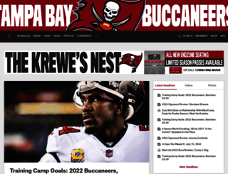 buccaneers.com screenshot