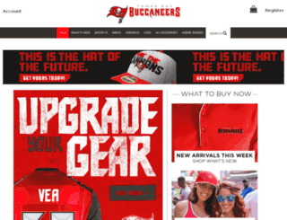 buccaneers.teamfanshop.com screenshot