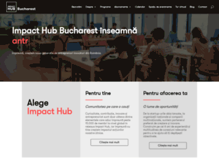 bucharest.the-hub.net screenshot