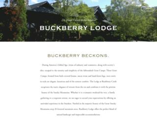 buckberrylodge.com screenshot