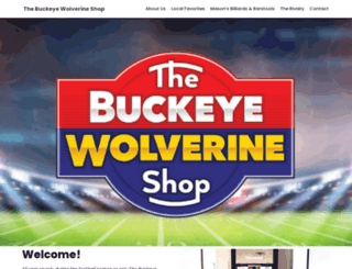buckeyewolverineshop.com screenshot