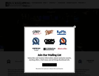 buckheadrestaurants.com screenshot