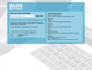 buckscc.naxosmusiclibrary.com screenshot