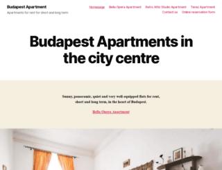 budapest-apartment.biz screenshot