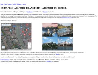 budapest-transfers.net screenshot