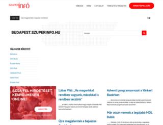 budapest.szuperinfo.hu screenshot