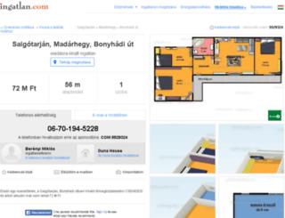 budapest.szuperingatlan.hu screenshot