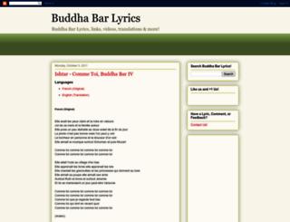 buddhabarlyrics.blogspot.com screenshot