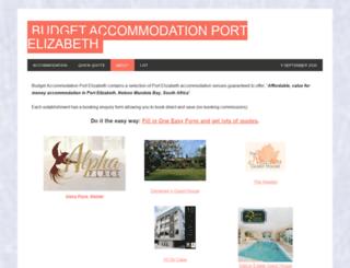 budget-accommodation-port-elizabeth.com screenshot