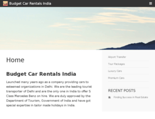 budget-car-rentals-india.com screenshot