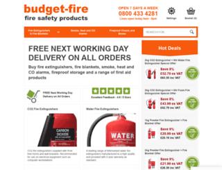 budget-fire.co.uk screenshot