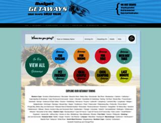 budget-getaways.co.za screenshot