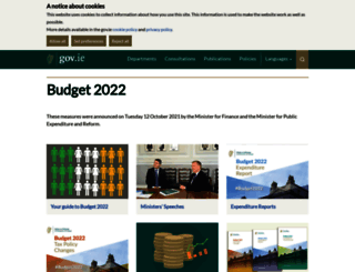 budget.gov.ie screenshot