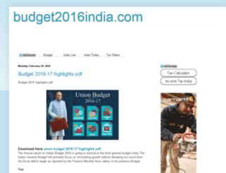 budget2016india.com screenshot