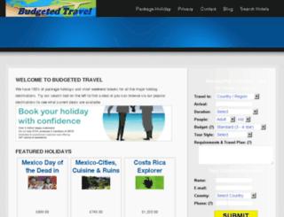 budgetedtravel.com screenshot