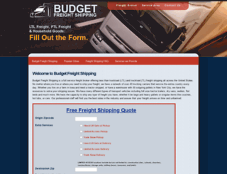 budgetfreightshipping.com screenshot