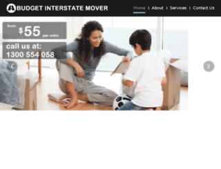 budgetinterstatemover.com.au screenshot