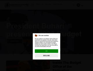 budgetoffice.gov.ng screenshot